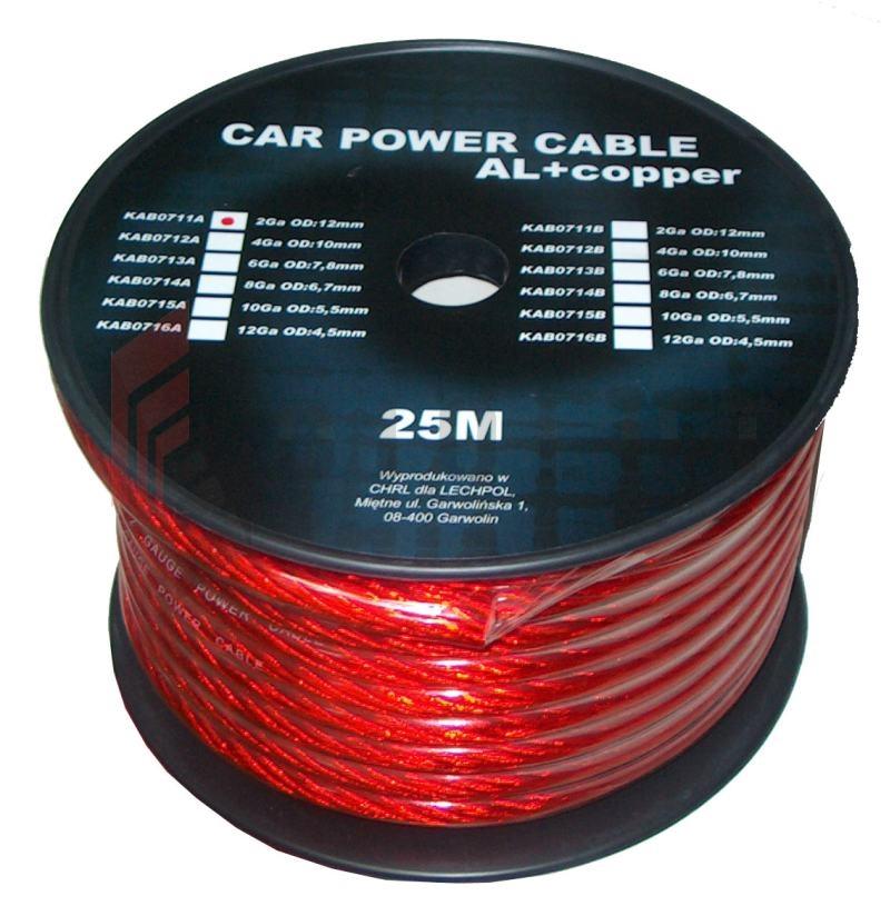 Kabel Samochodowy 6Ga Od8Mm Cu+Al 25M - Diolut