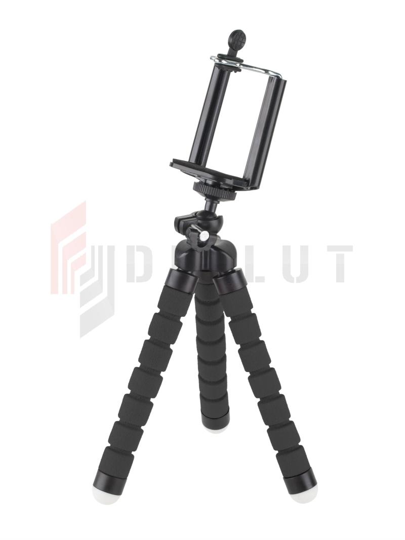 4ab90be1f79e2d Uchwyt tripod, statyw elastyczny M-LIFE do telefonu / kamery sportowej  czarny